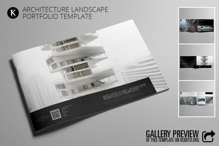 Architecture Landscape Portfolio Adobe Indesign Template Cmyk Print Ready Corporate And Creative Design For Presentation A4