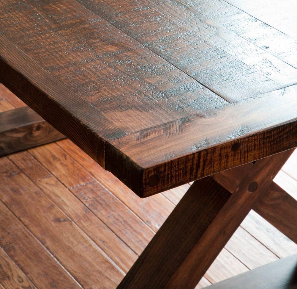 Rough Lumber Kitchen Tables Leg Barn Wood Table By Valebruck Com