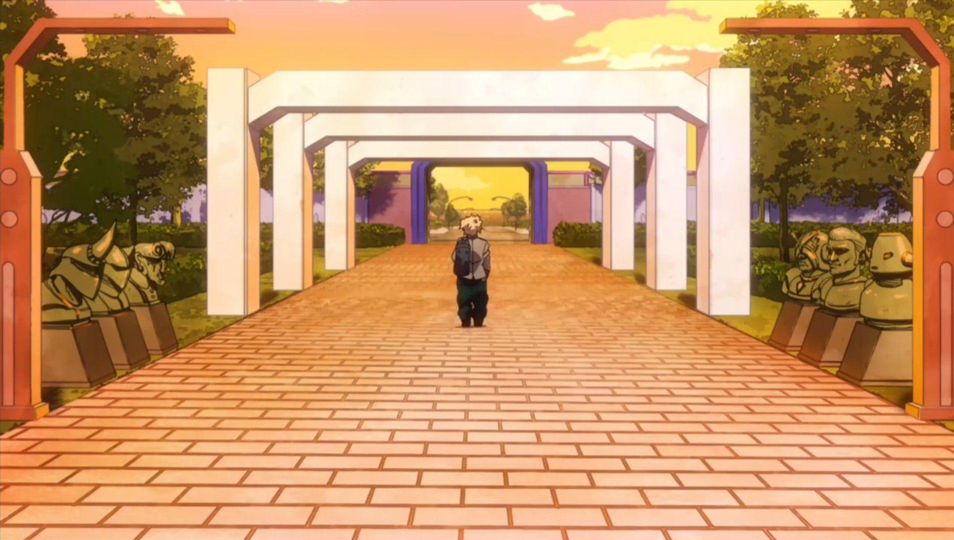 Boku No Hero Escenario Entrada Ua Cool Illusions Dream Anime Anime Scenery
