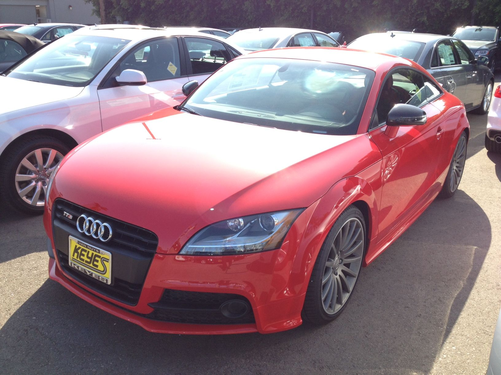 Misano Red Pearl 2014 Audi Tts With Black Optic Package Black Black And Red Audi