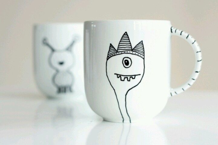 Mug design ideas | Crafty Tidbits | Pinterest | Craft, Pottery ...