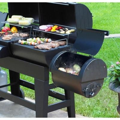Brinkmann Dual Function 3 Burner Propane Gas / Charcoal Grill And  Smoker 810