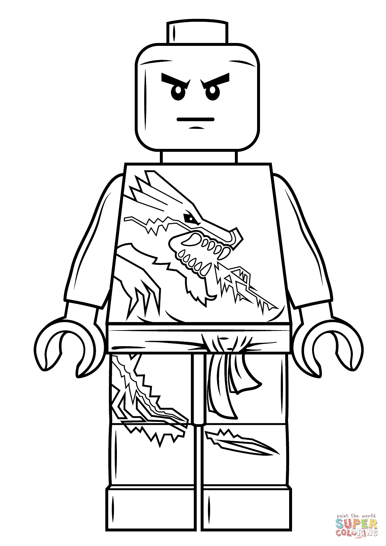 Zane Lego Ninjago Super Coloring Ninjago Coloring Pages Lego Coloring Pages Coloring Pages For Boys