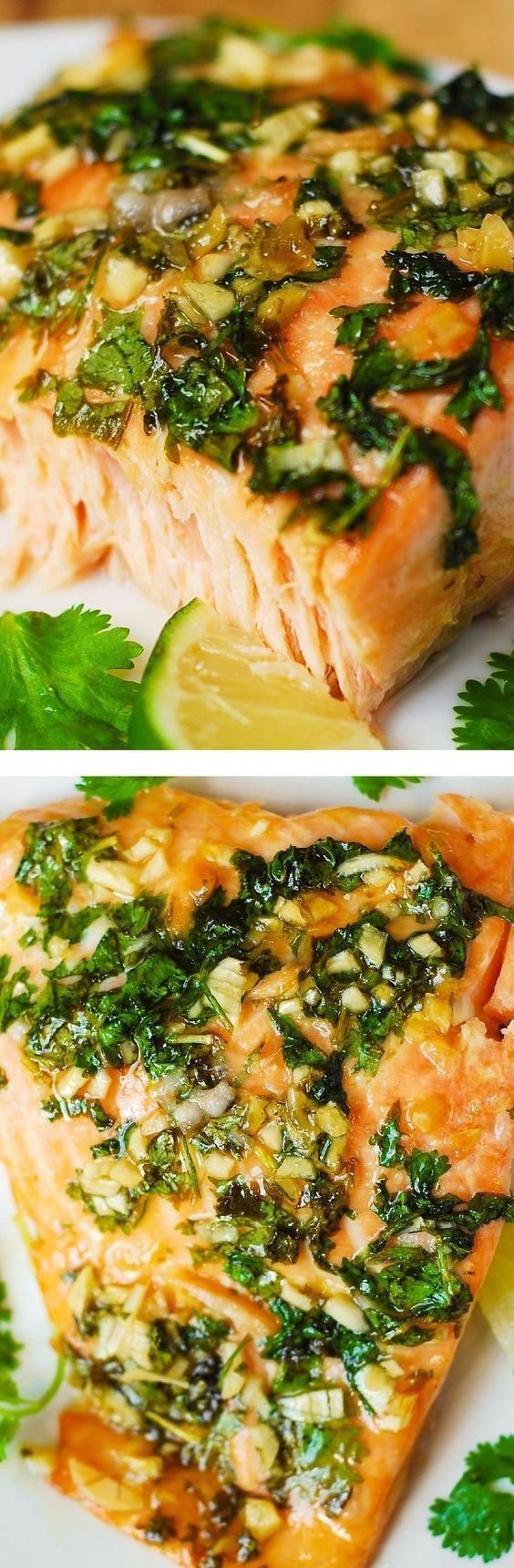 Photo of Cilantro-Lime Honey Garlic Baked Salmon #taliparecipes