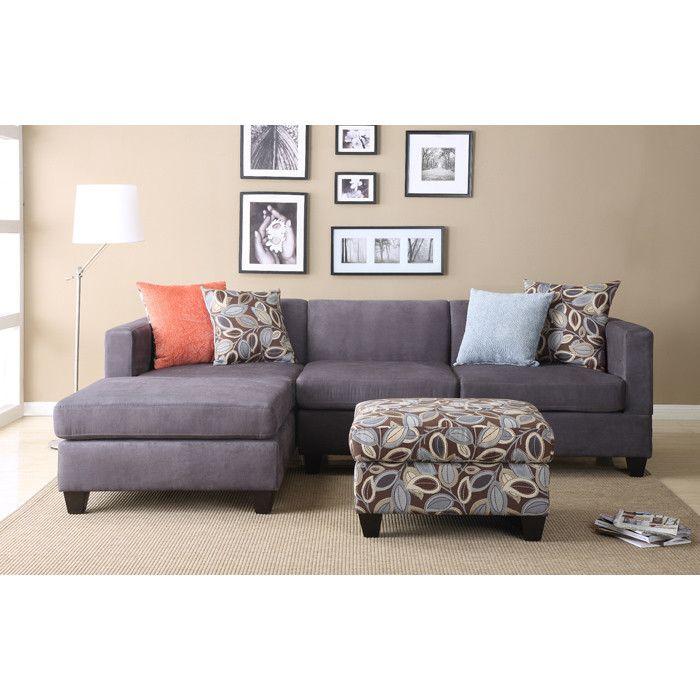 Liza Sectional Sofa With Ottoman Home Love Diseños De Salas