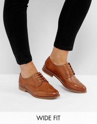 ASOS MOJITO Wide Fit Leather Brogues | ASOS