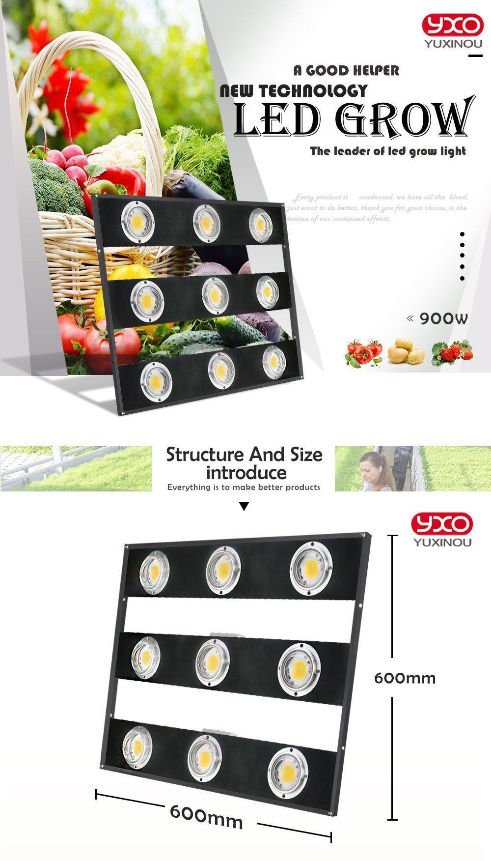 Regulable CREE CXB3590 900 W COB LED Grow Light Full