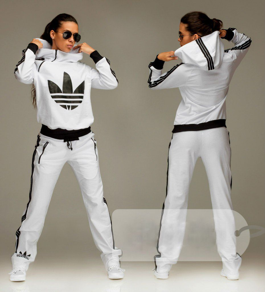 chico Dirigir Descodificar  tracksuit #bottoms Fashionable women's hooded white tracksuit bottoms |  Adidas jumpsuit, Sporty outfits, Adidas outfit