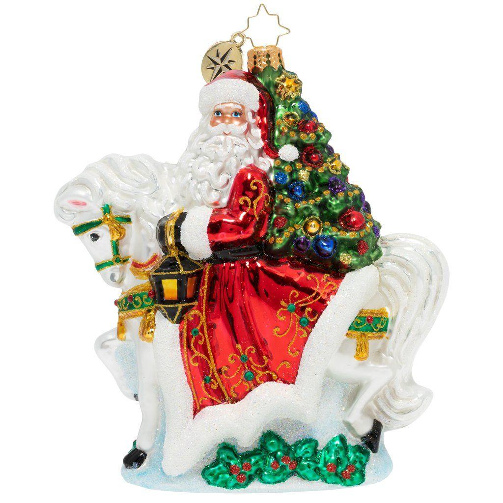 Christopher radko galloping into christmas horse santa