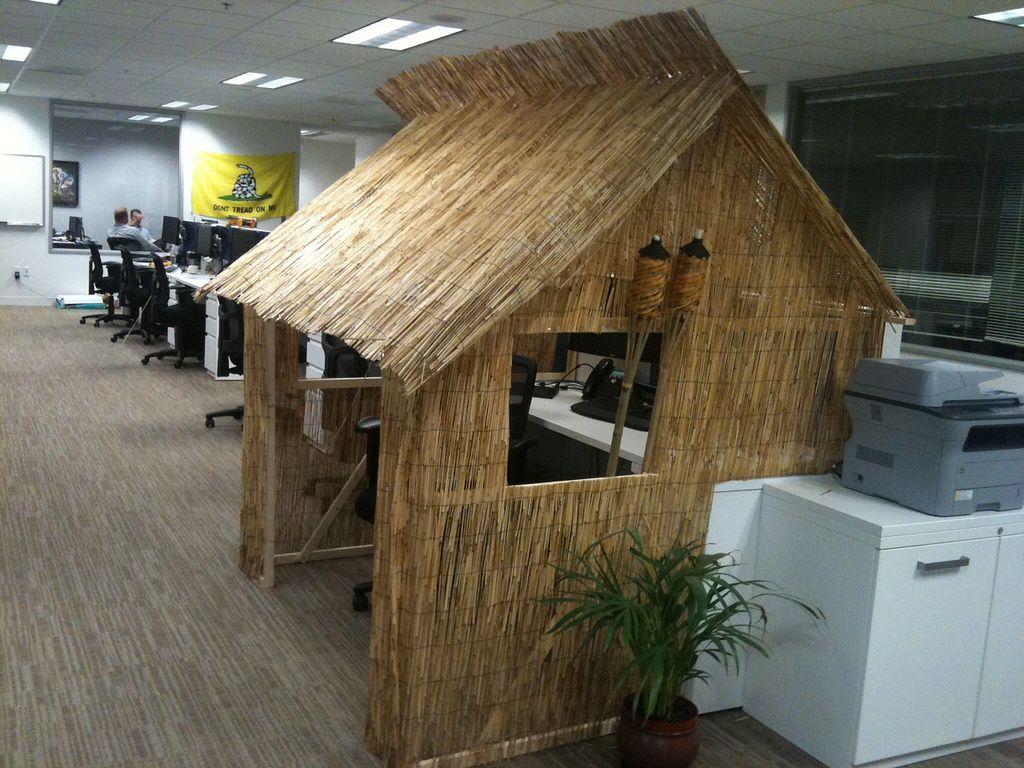 Tiki Hut Cubicle Tiki Hut Cubicle Decor Office Cubicle Decor