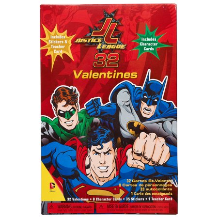 DC Super Hero Girls Classroom Valentine/'s Day Box 32 Cards//Stickers//Teacher New