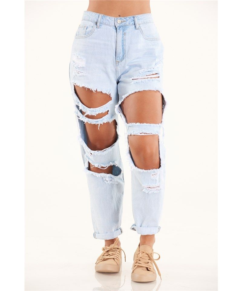 autumn shoes new arrivals buying now Cello Destroyed Boyfriend Jeans | Discovery Clothing | Denim ...