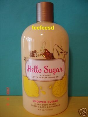 Bath and Body Works Hello Sugar Lemon 3 in 1 Wash Large Lemon