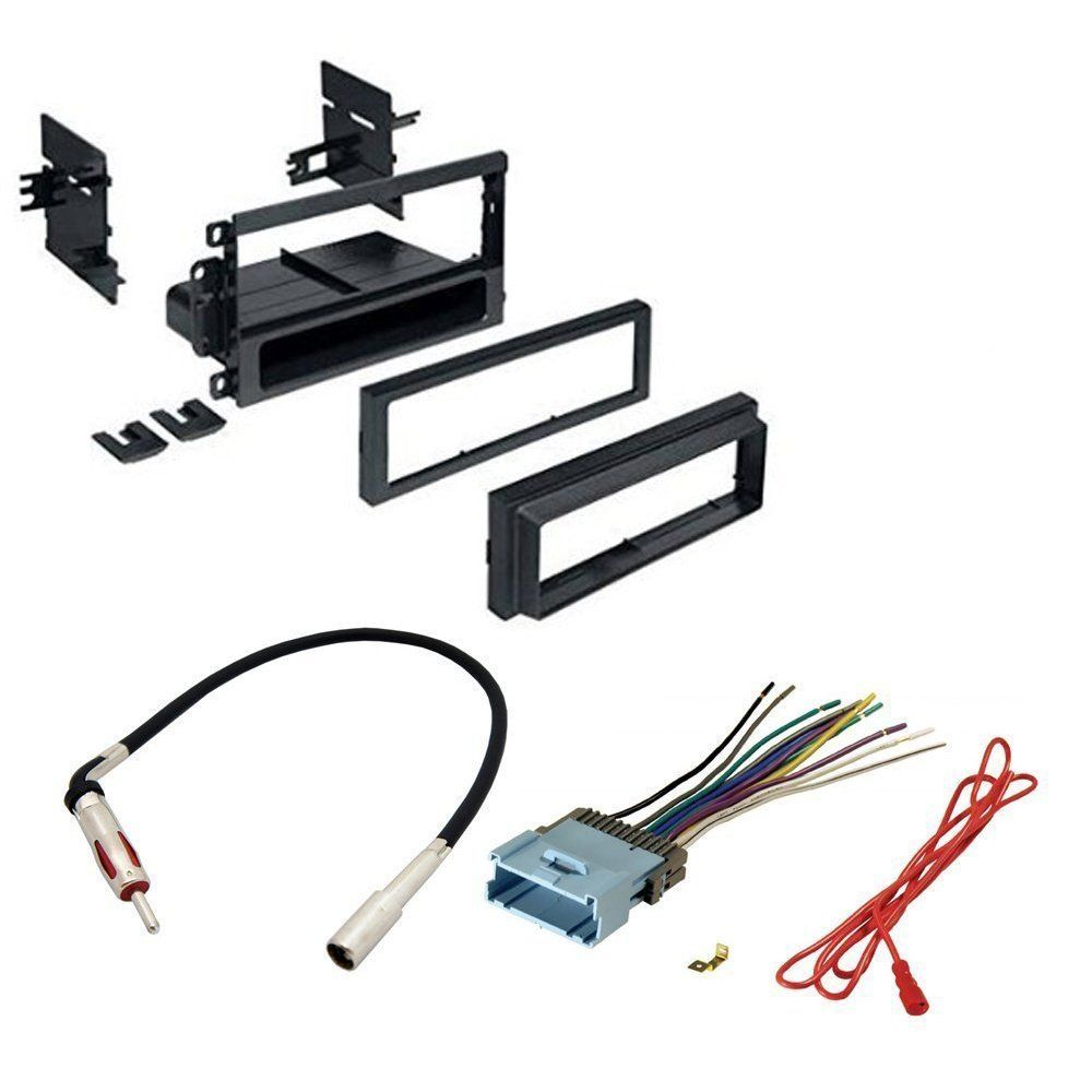 Car Stereo Cd Player Dash Install Mounting Kit Wire Harness Radio Antenna For Buick Cadillac Chevrolet