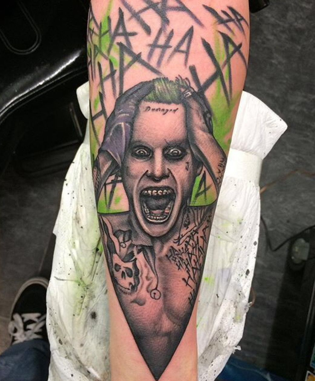 Jared Leto Joker Tattoo