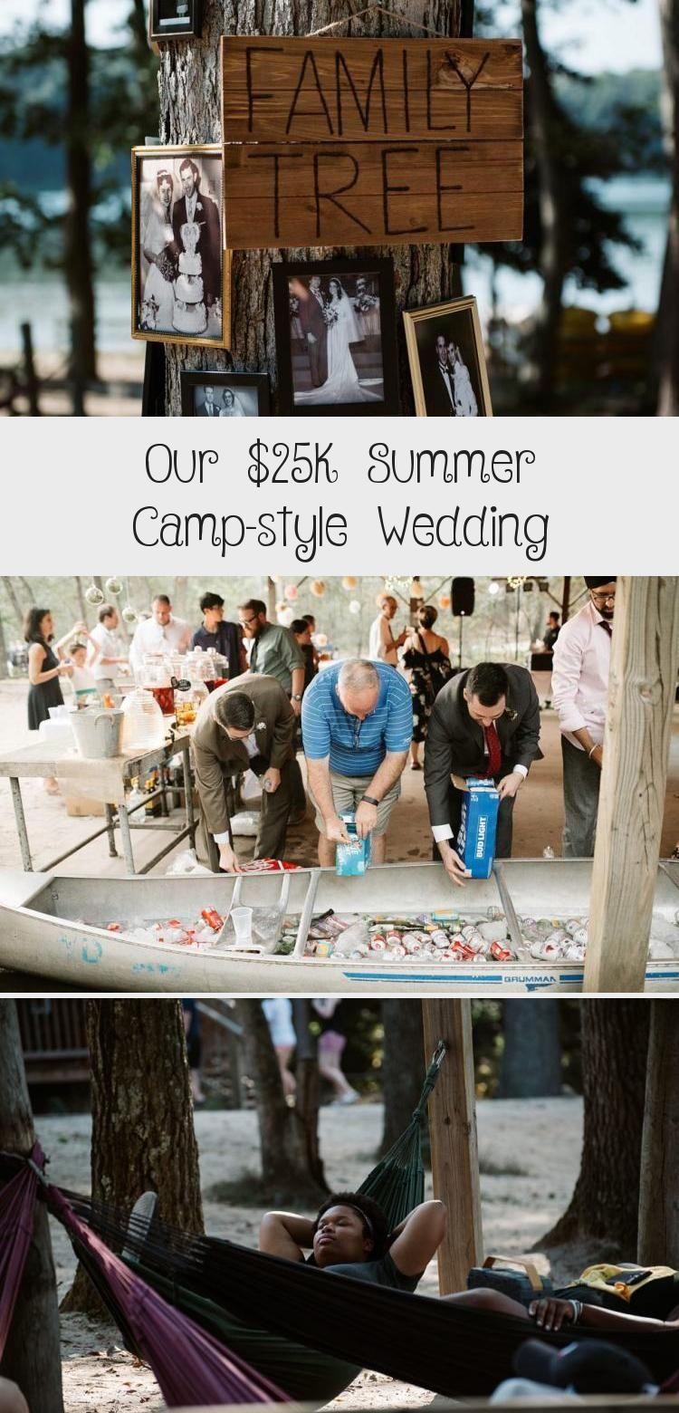 Our 25k Summer Camp Style Wedding A Practical Wedding Beautifulweddingdecorations Blushweddingdecorations Easy In 2020 Camp Style Michigan Wedding Venues Wedding