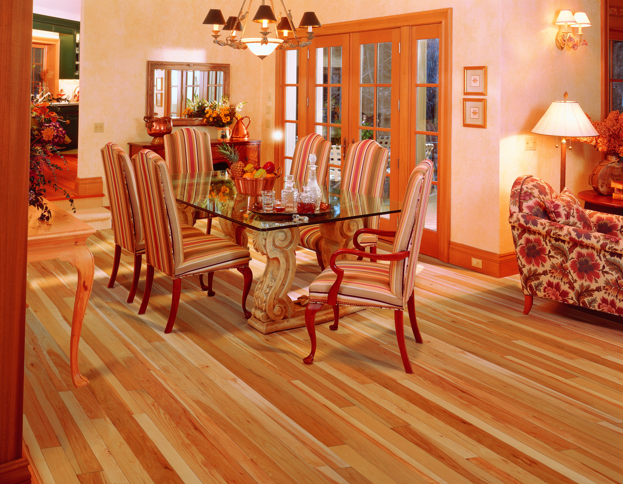 Natural hickory flooring by Mullican Flooring. www