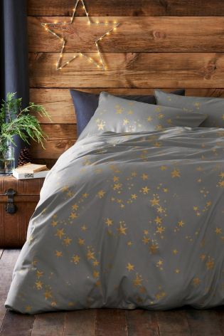 Buy Gold Metallic Stars Bed Set online today at Next: United States of America