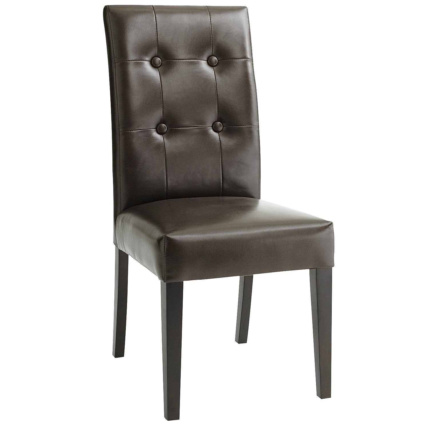 Mason Brown Dining Chair With Espresso Wood Dining