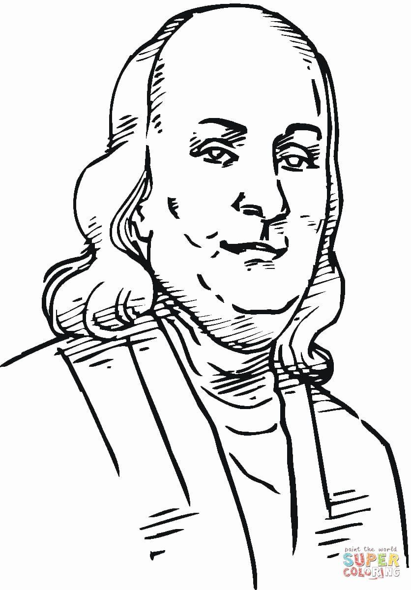 Benjamin Franklin Coloring Page Fresh Ben Franklin Coloring Page