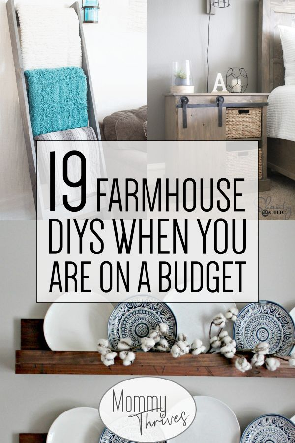19 Easy DIY Farmhouse Decor Anyone Can Do – Mommy Thrives