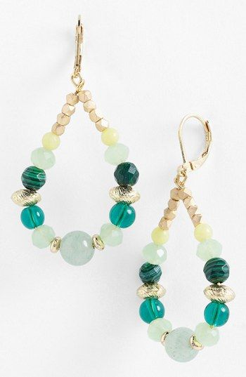 Nordstrom 'Pebbles' Beaded Teardrop Earrings available at #Nordstrom