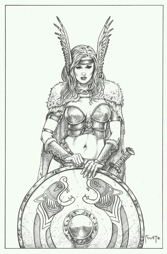 Shield Maiden By Mitch Foust Com Imagens Arte Viking Norse