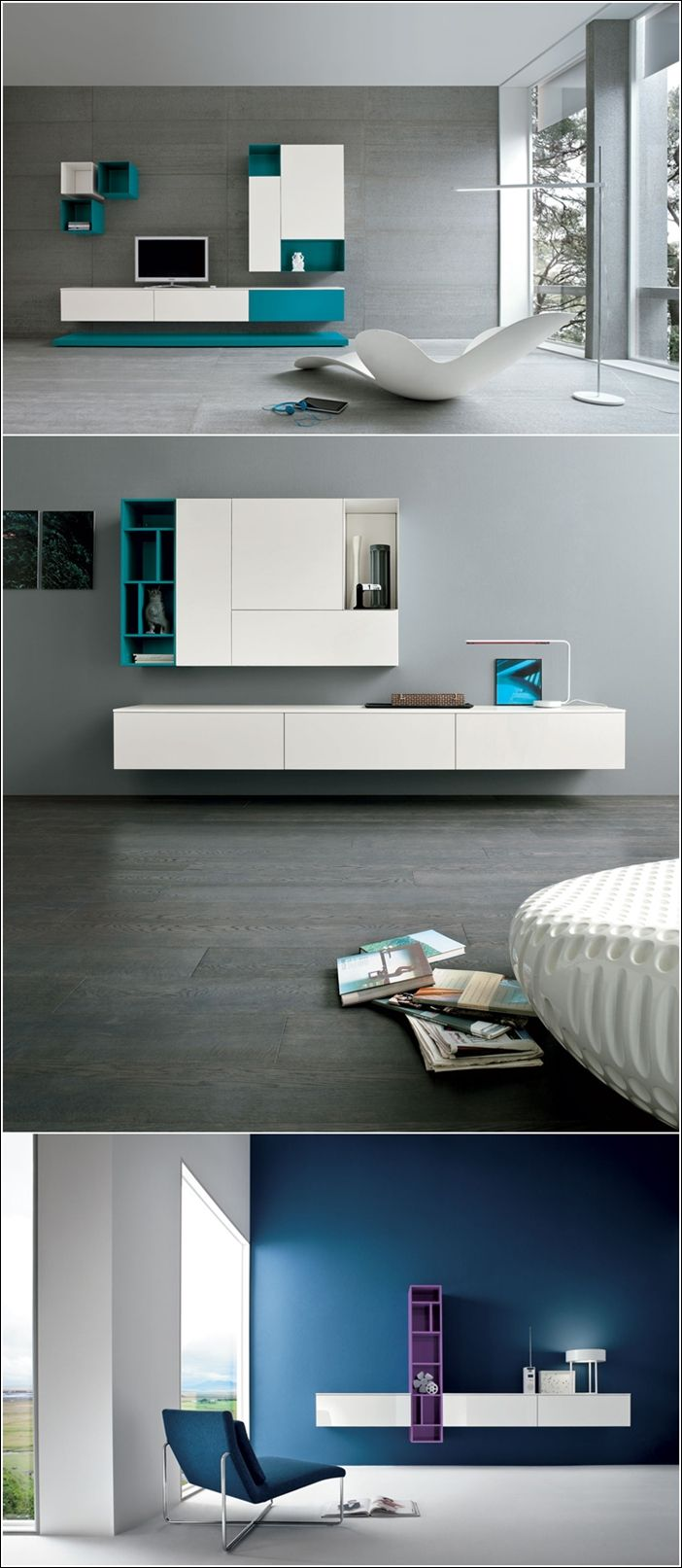Tv Unit Designs In The Living Room: Contemporary Wall Units For Your Living Area!