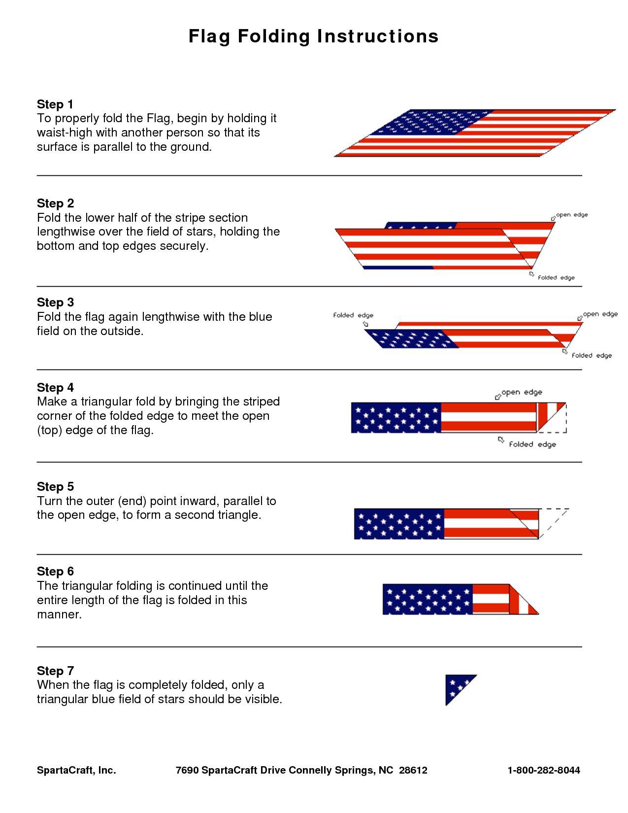 Usa American Flag How To Fold Usa Flag Girls Camp Handouts American Flag