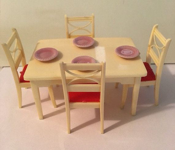 Renwal Kitchen Table & Chair Set  Vintage Dollhouse Furniture 1 Captivating Kitchen Table Chairs Decorating Inspiration