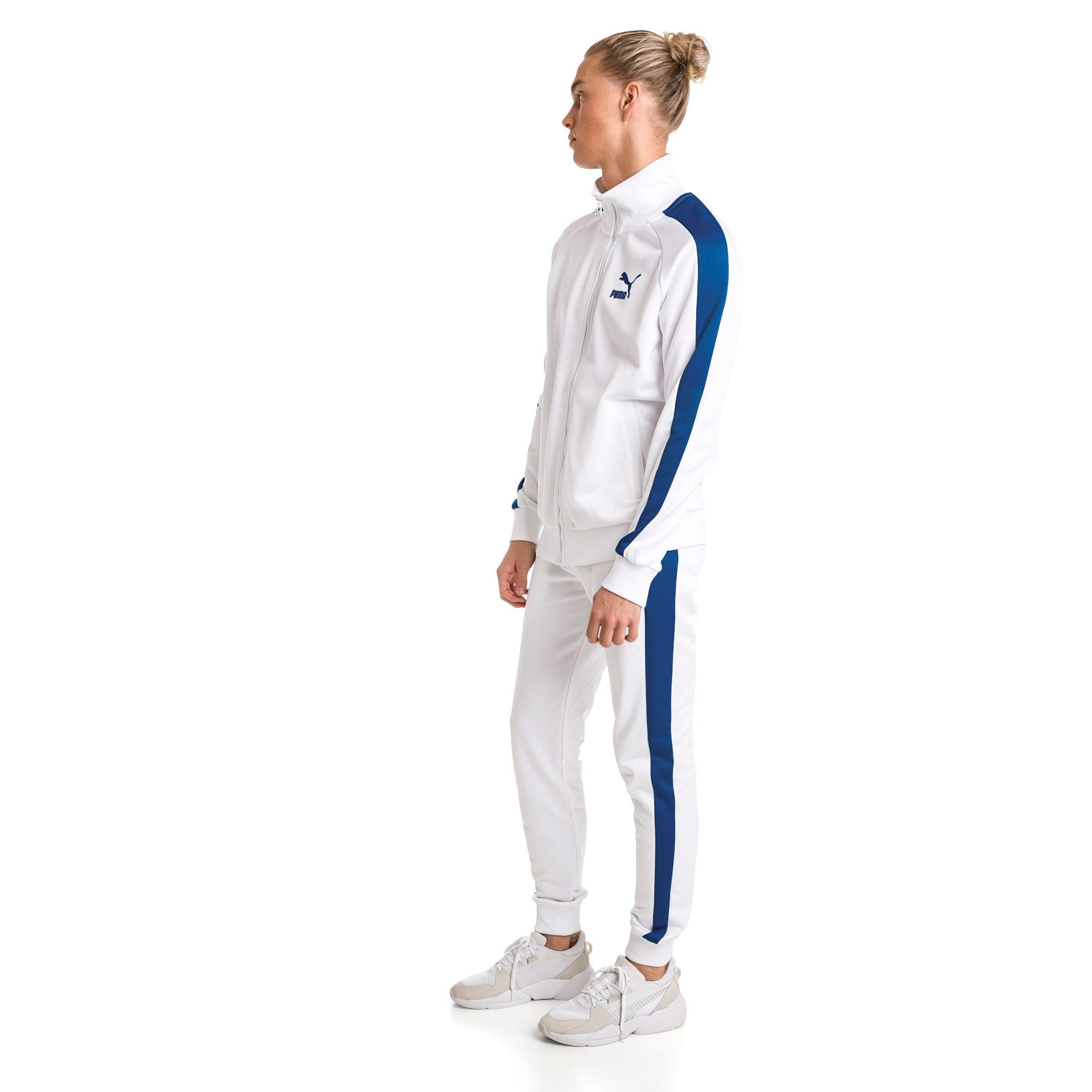 PUMA Pantalon en sweat Iconic T7 en maille pour Homme, Blanc