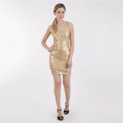 Vestido dorado nochevieja