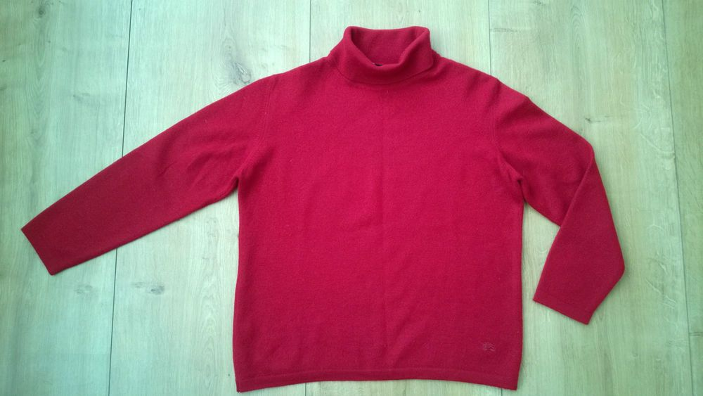 BURBERRY London Womens WOOL Funnel Neck Sweater Jumper Size 12/40 ...