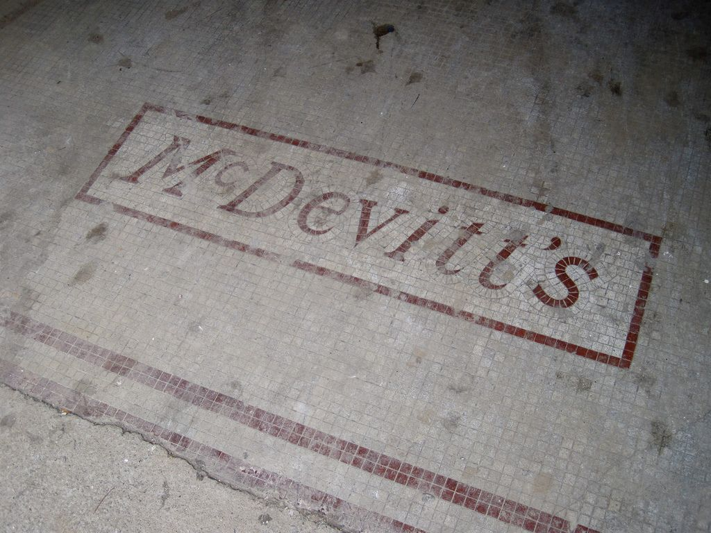Historic floor mosaic in Pawtucket Rhode Island USA from the