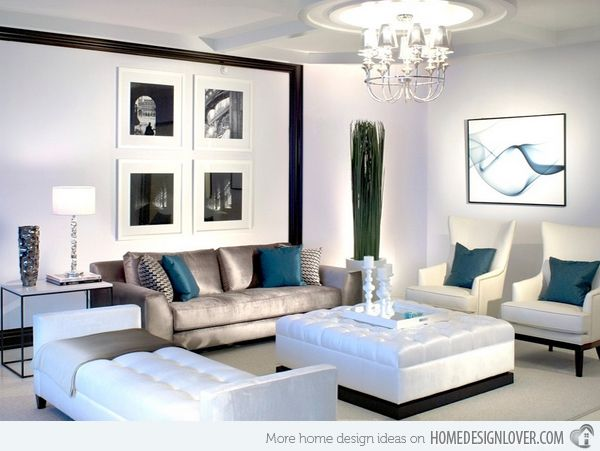 15 Interior Design Ideas Of Luxury Living Rooms  Living Room Prepossessing Blue And Silver Living Room Designs Design Ideas