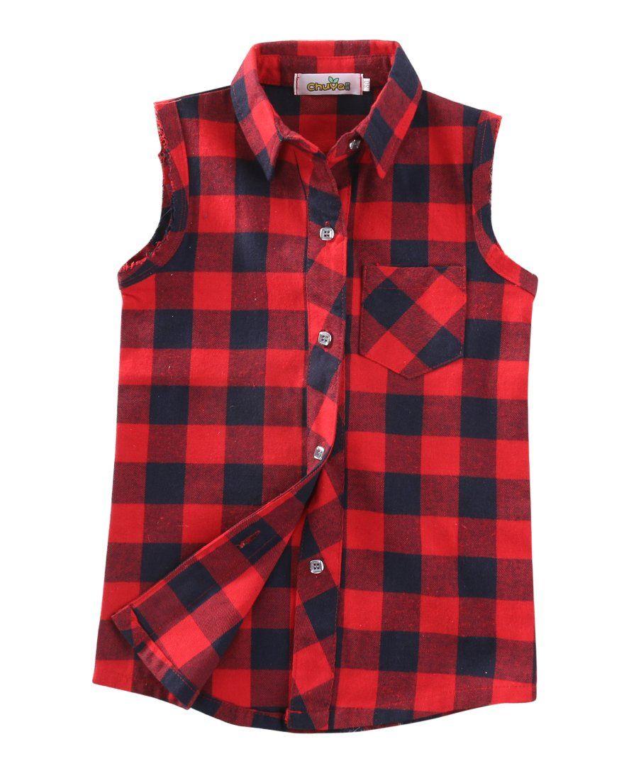 a200a93e8 Fashion Baby Kids Boys Girls Sleeveless Shirt Plaids Checks Tops Blouses &  Shirts Clothes Outfits