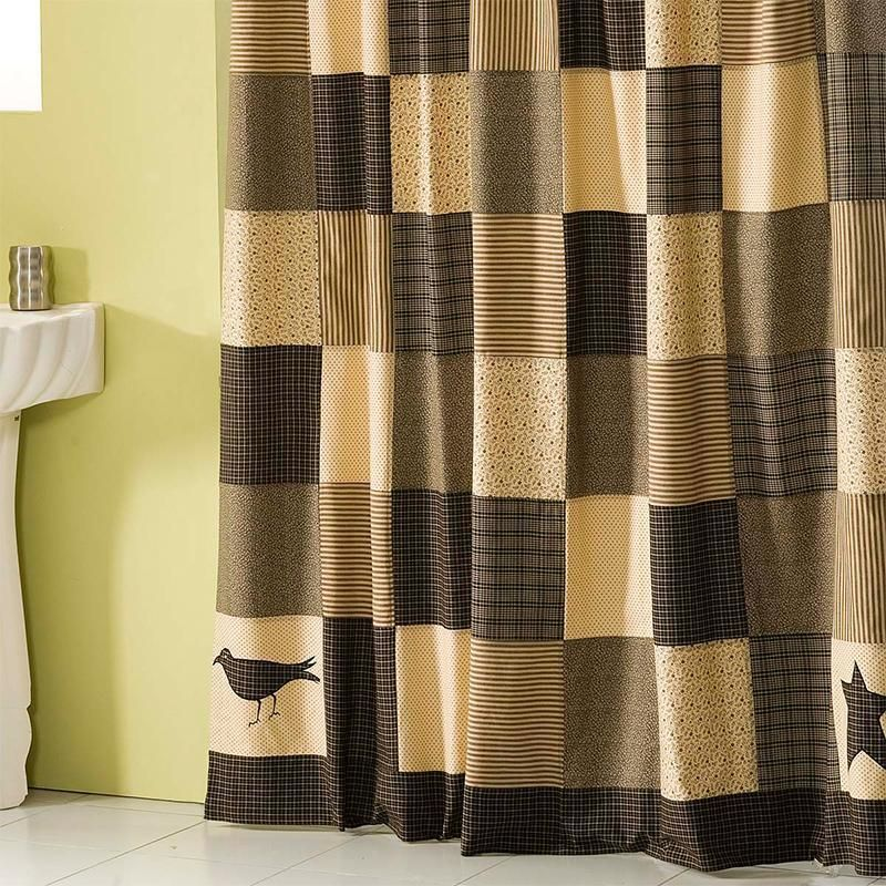 Shower Curtain Kettle Grove Black Latest Bedding
