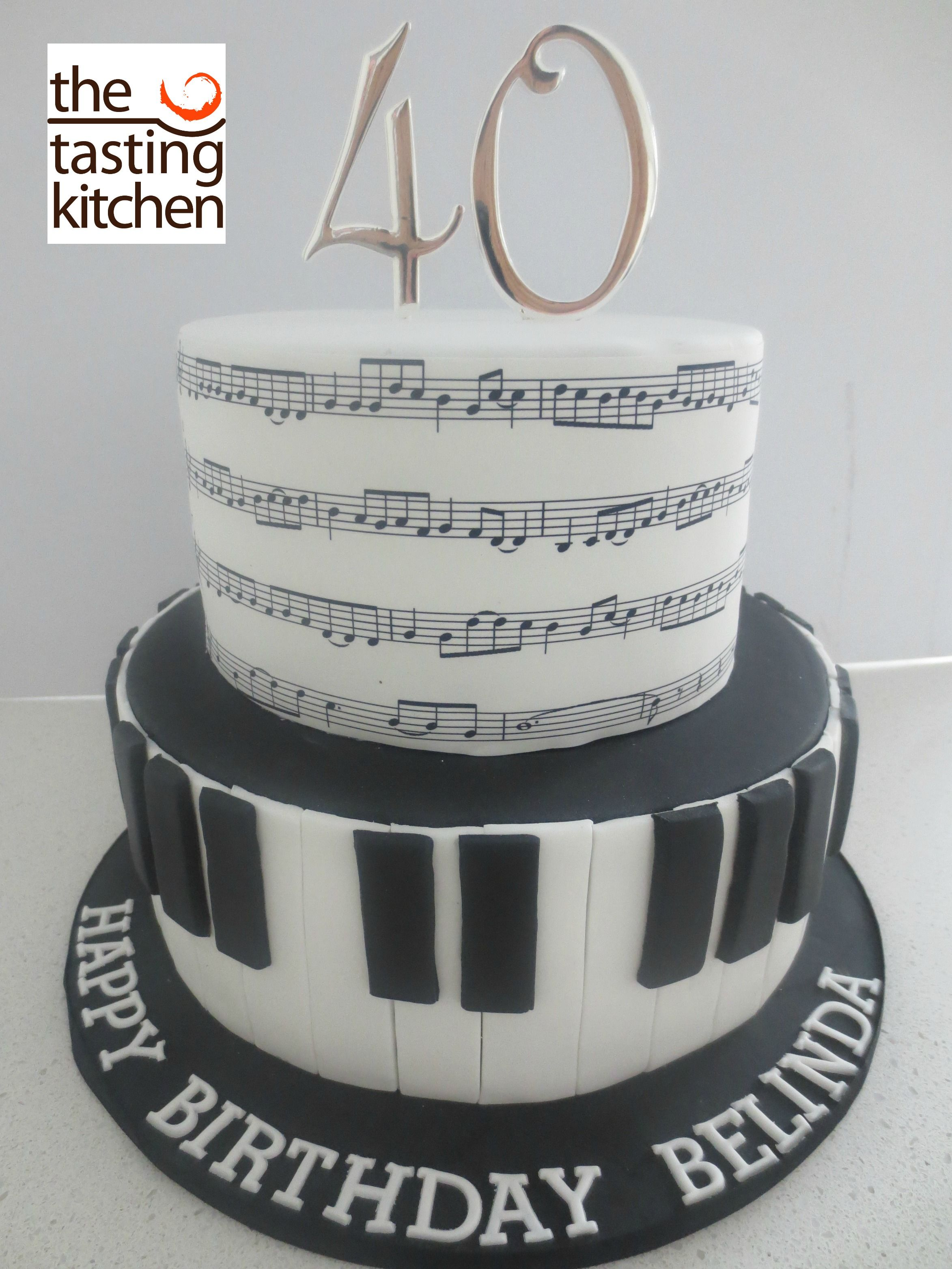 Music Birthday Cake Piano Keys Other Cakes Pinterest Music