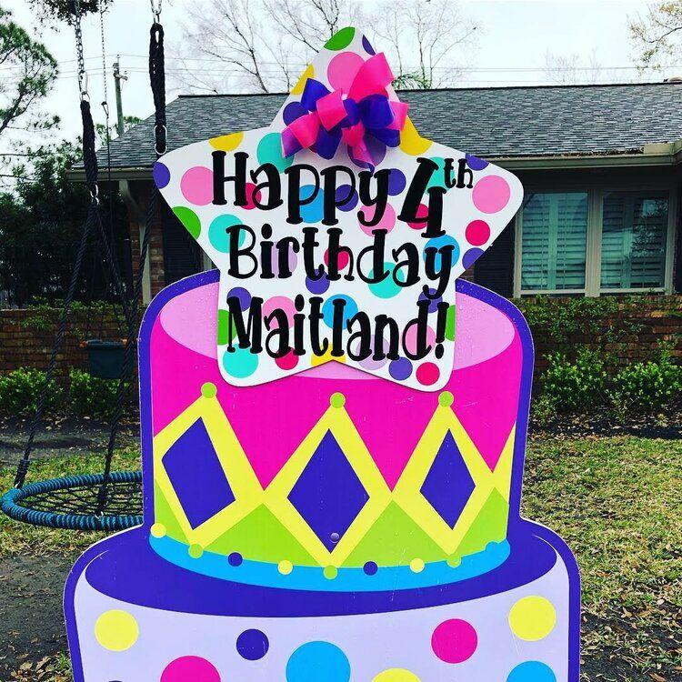 Pin on Birthday yard signs