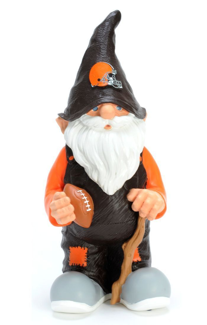 """Cleveland Browns 11"""" Male Garden Gnome"""