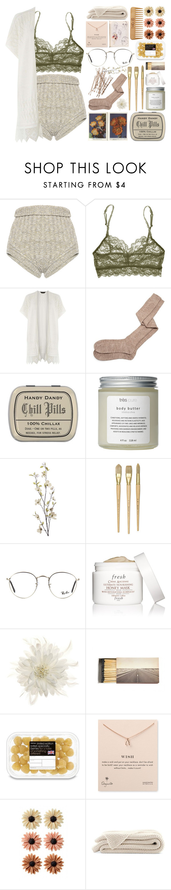 """i think i saw you in my sleep darling"" by iradicate ❤ liked on Polyvore featuring Philosophy di Lorenzo Serafini, Cosabella, Dorothy Perkins, Aymara, Très Pure, Pier 1 Imports, Ray-Ban, Fresh, Tasha and Jayson Home"
