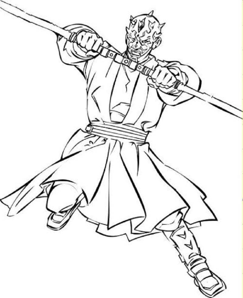 Darth Maul Coloring Page Free Printable Star Wars Colors Coloring Pages Darth Maul
