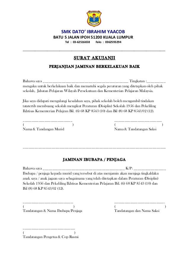 Surat Akujanji Surat Ipoh Dan Bil