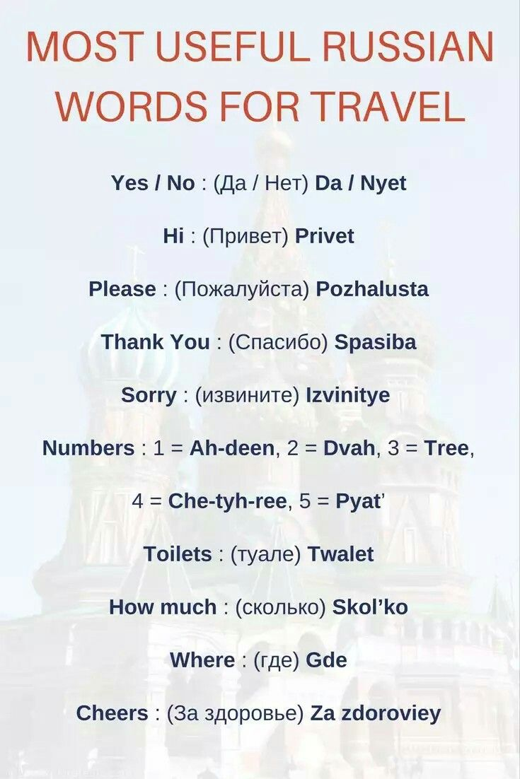 Useful Russian Words If You Re Traveling Russian Language Learning Russian Language Russian Language Lessons