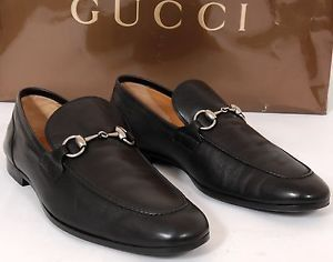 f744d4f4e2b GUCCI Black Leather Horsebit Loafers Dress Shoes Men 9.5 D US Made ...