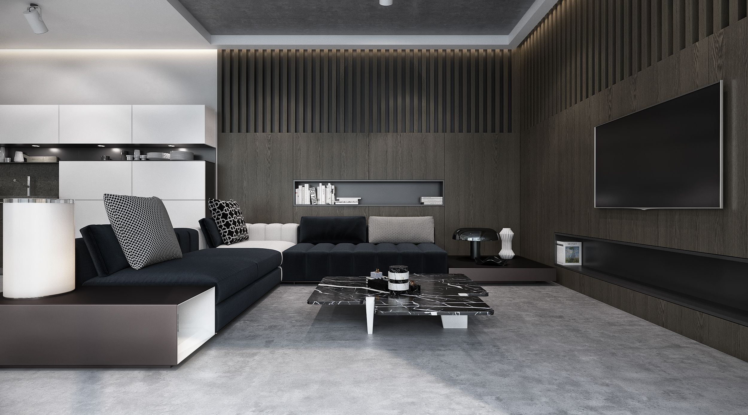 Interior Living Room Private Villa By Sarah Sadeq Architects  # Gianotti Muebles