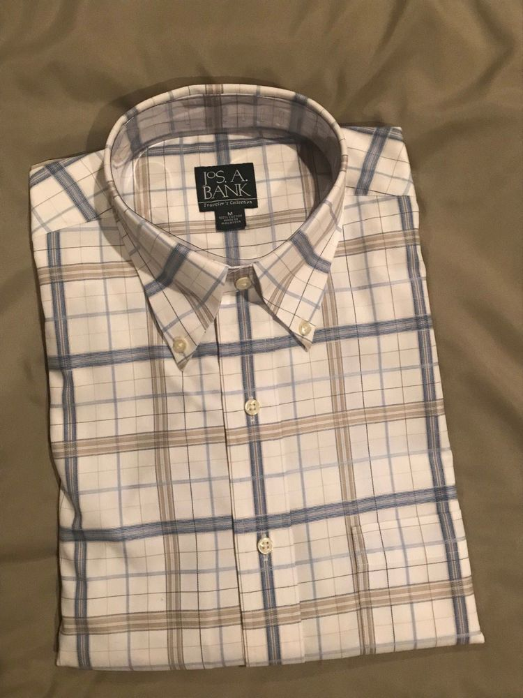 Men's JoS  A Bank Traveler's Collection Plaid Dress Shirt