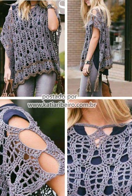 806724caf Katia Ribeiro Crochê Moda e Decoração | Crochet Clothes | Crochê ...