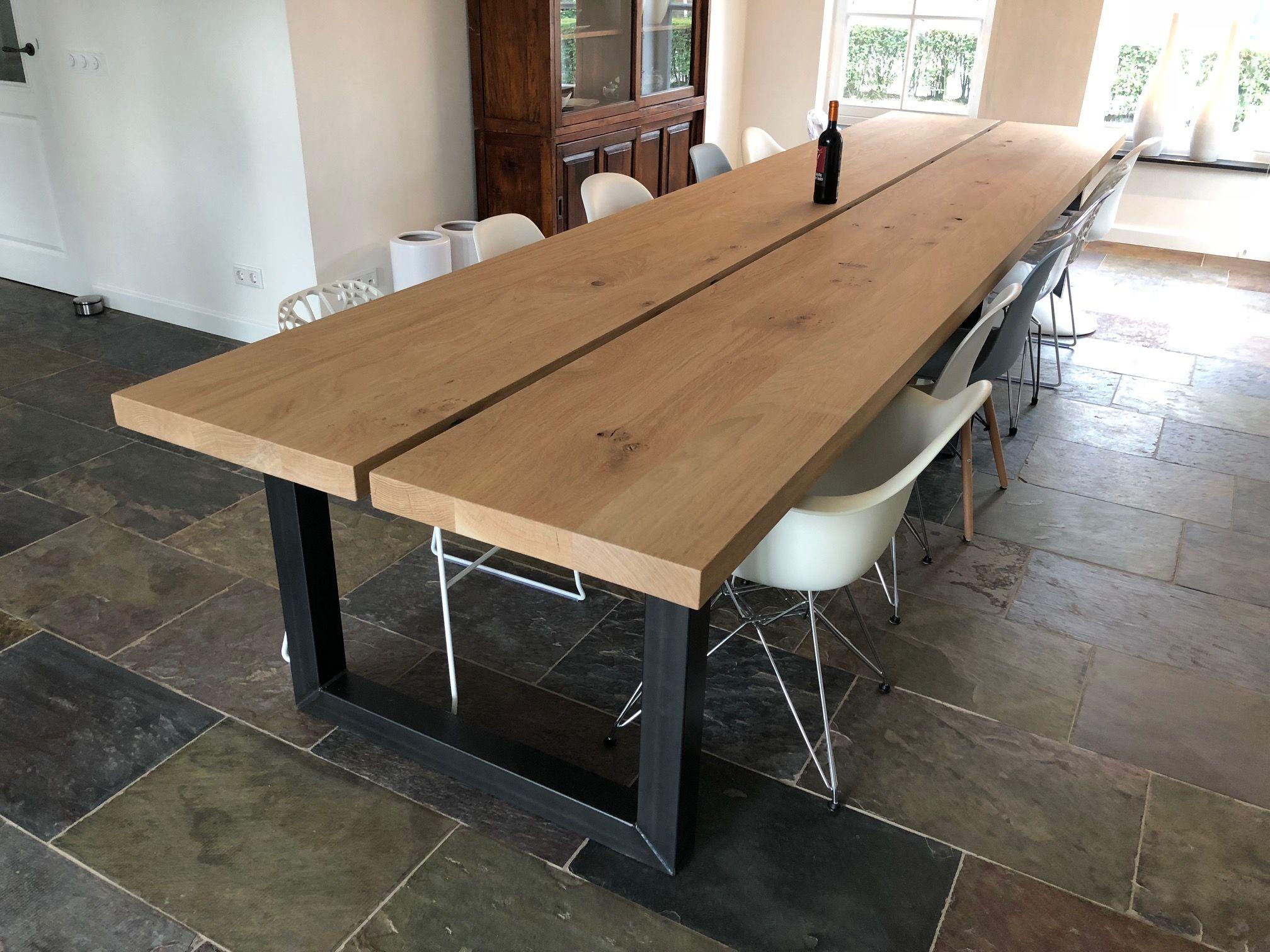 Eikenhouten Tafel 4 Meter.Pin Op Portfolio Oak Steel
