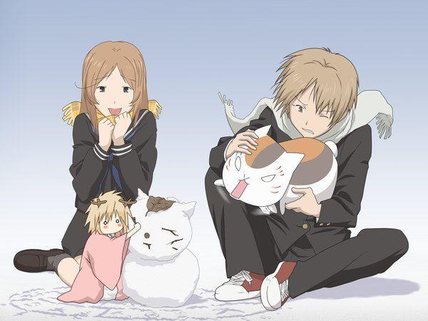 Anime picture 2400x1800 with  natsume yuujinchou brain's base (studio) natsume takashi madara (nyanko-sensei) taki tooru tama (natsume yuujinchou)